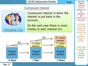 iGCSE Booklet - Fraction, Decimal & Percentage Calculations
