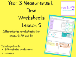 5 time am and pm worksheets y3 by mrssbunny teaching resources. Black Bedroom Furniture Sets. Home Design Ideas
