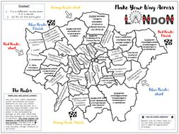 AQA GCSE Urban Change in the UK: London Revision A3 Sheet