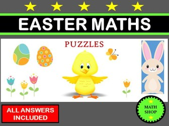 Easter Maths Fun Puzzles
