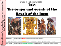 23. Causes and events of the Revolt of the Incas