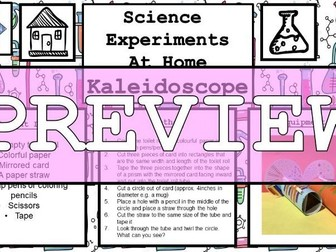 Science Home Experiments - Kaleidoscope