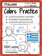 Italian Colors Practice - Games and Activities