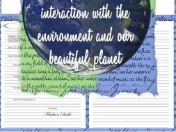 Earth Day Writing Activity: Letter to Our Planet