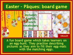 French Easter egg hunt board game