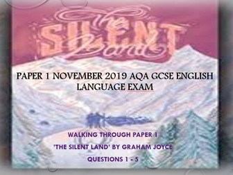 P1 November 2019 GCSE English Language
