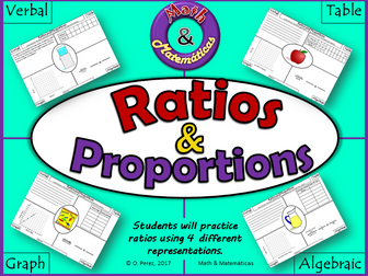 Ratios and Proportions - Verbal, Table, Graph and Algebraic Representations - Equivalent Ratios