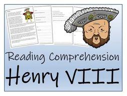 UKS2 History - Henry VIII Reading Comprehension Activity