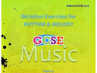 DICTATION - RHYTHM & MELODY PAPER #9 [POP MUSIC #2]