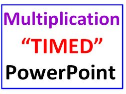 """Multiplication Facts """"TIMED"""" PowerPoint Lesson"""