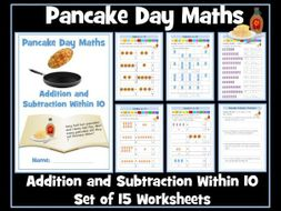 Pancake Day Maths - Addition and Subtraction Within 10