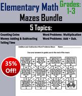 Elementary School: 1st to 3rd Grade Mazes Bundle