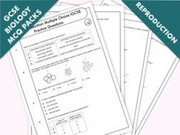 GCSE Biology: Multiple-Choice Topic Question Packs on Reproduction