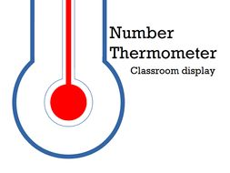 Number Thermometer Display