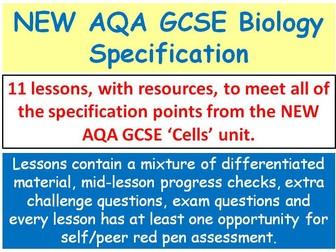 NEW AQA GCSE Biology - 'Cells' lessons