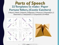 Paper Fortune Teller English Parts of Speech
