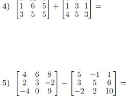 Adding and subtracting matrices worksheet (with solutions