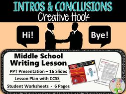 writing introductions and conclusions worksheets