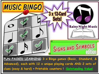 MUSIC BINGO Signs and Symbols
