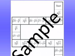 Simplifying radicals 4 – Math puzzle