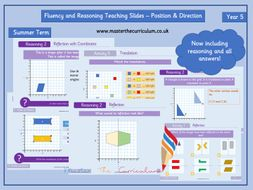 Year 5 - Editable Position and Direction Teaching Slides - Maths Measurement - White Rose Style