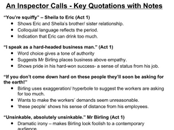 An Inspector Calls Quotes with Notes