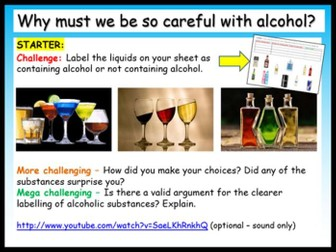 Alcohol Risk + Dangers PSHE