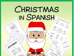 Christmas in Spanish - Vocab. sheets, wks, matching and bingo games