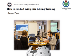 How to conduct Wikipedia Editing training