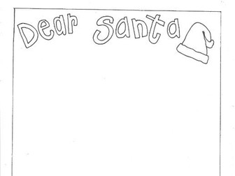Dear Santa: Christmas Letter Writing:  Colouring Page