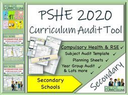 PSHE Audit tool - Secondary Curriculum PSHE 2020