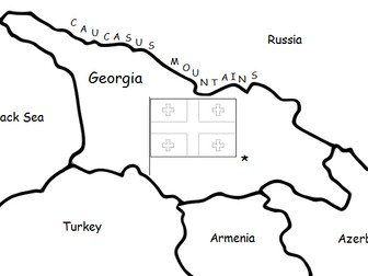 GEORGIA (country): Printable handout with map and flag