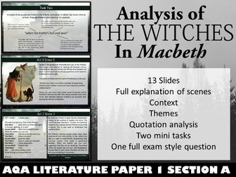 Macbeth Witches PowerPoint