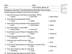 frequency adverbs time expressions multiple choice exam by eslfungames teaching resources. Black Bedroom Furniture Sets. Home Design Ideas