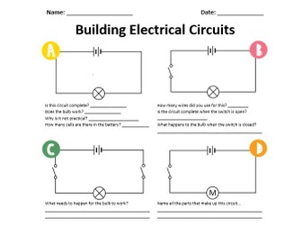 Electrical Circuits Practical Worksheet