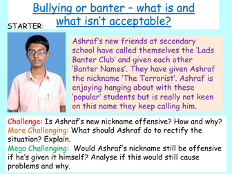 Bullying or Banter - anti-bullying