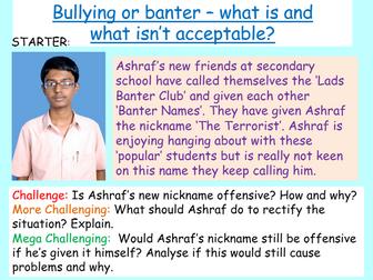 Anti-Bullying Week - Bullying or Banter?