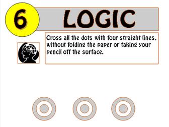 Logic puzzles 1,2,5,6+7 - Bundle!