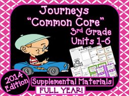 Journeys 3rd Grade Reading Language Arts Units 1 6 Full Year Bundle