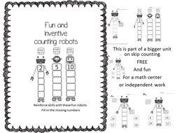 Skip Counting Robots-FREEBIE