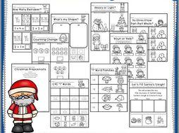 santas helpers kindergarten math  literacy worksheets by  santas helpers kindergarten math  literacy worksheets by  knowledgeboxcentral  teaching resources  tes