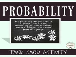 Probability Task Card Activities