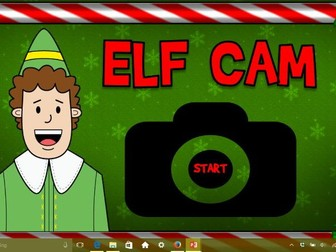 Elf on the Shelf Cam Classroom monitor