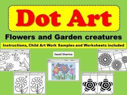 Art Project Dot Art Flowers and Garden Creatures