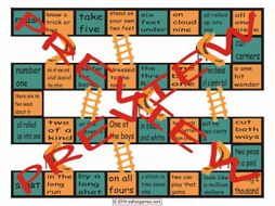 Idioms #1 Chutes and Ladders Board Game