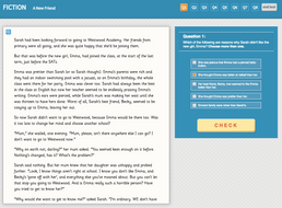 A New Friend - Interactive Exercise - Year 5 Reading Comprehension (Fiction)