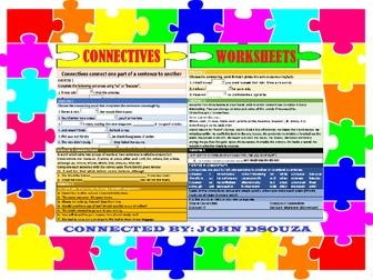 CONNECTIVES WORKSHEETS