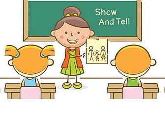 Show and Tell' written activity | Teaching Resources