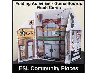 ESL Community Places Activity Set