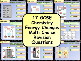 £1 ONLY! KS4 AQA GCSE Chemistry (Science) Energy Changes Multiple Choice Revision Questions